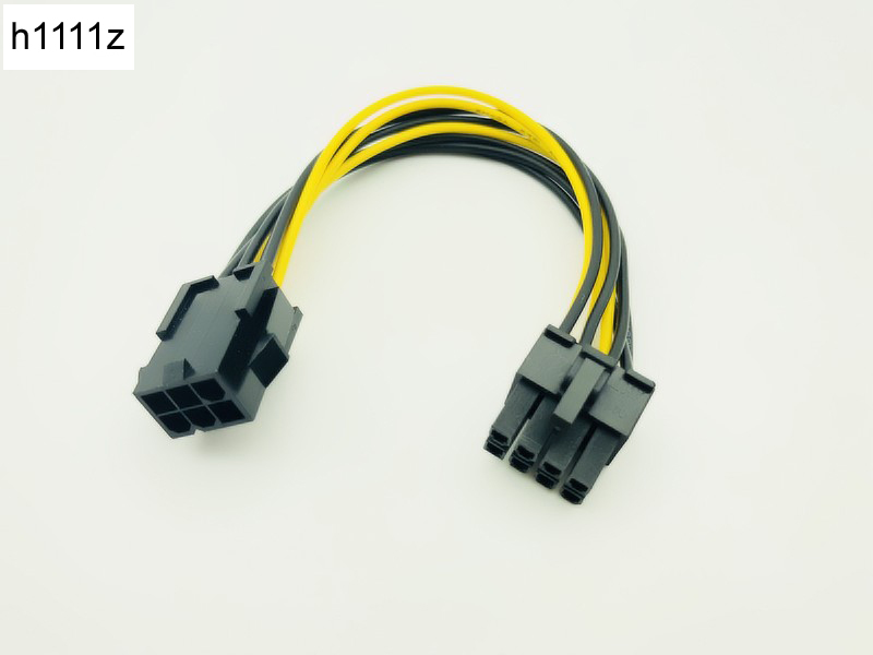 6pin To 8pin 20cm PCI Express Power Converter Cable For CPU Video Card PCIE PCI-E Power Supply For Bitcoin Antminer Miner Mining
