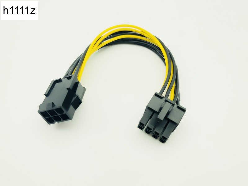 6pin untuk 8pin 20 Cm PCI Express Power Converter Kabel untuk CPU Video Kartu Pcie PCI-E Power Supply untuk Bitcoin antminer Penambang Pertambangan