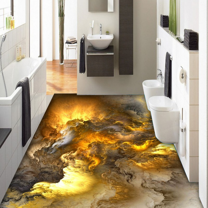 ФОТО Free Shipping Atmospheric fantasy abstract clouds 3D floor non-slip self-adhesive high-quality anti-skidding mural wallpaper