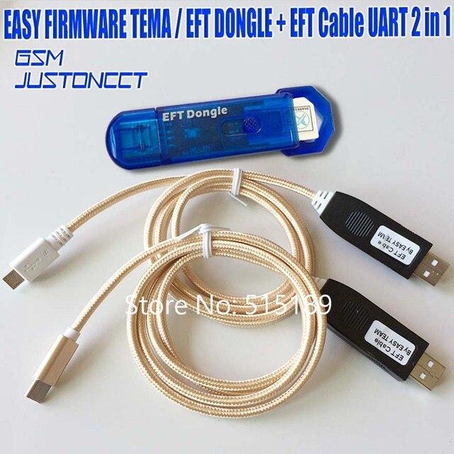 Gsmjustoncct 2019 новейший 100% оригинальный Простой прошивки TEMA/EFT ключ + кабель EFT UART 2 в 1