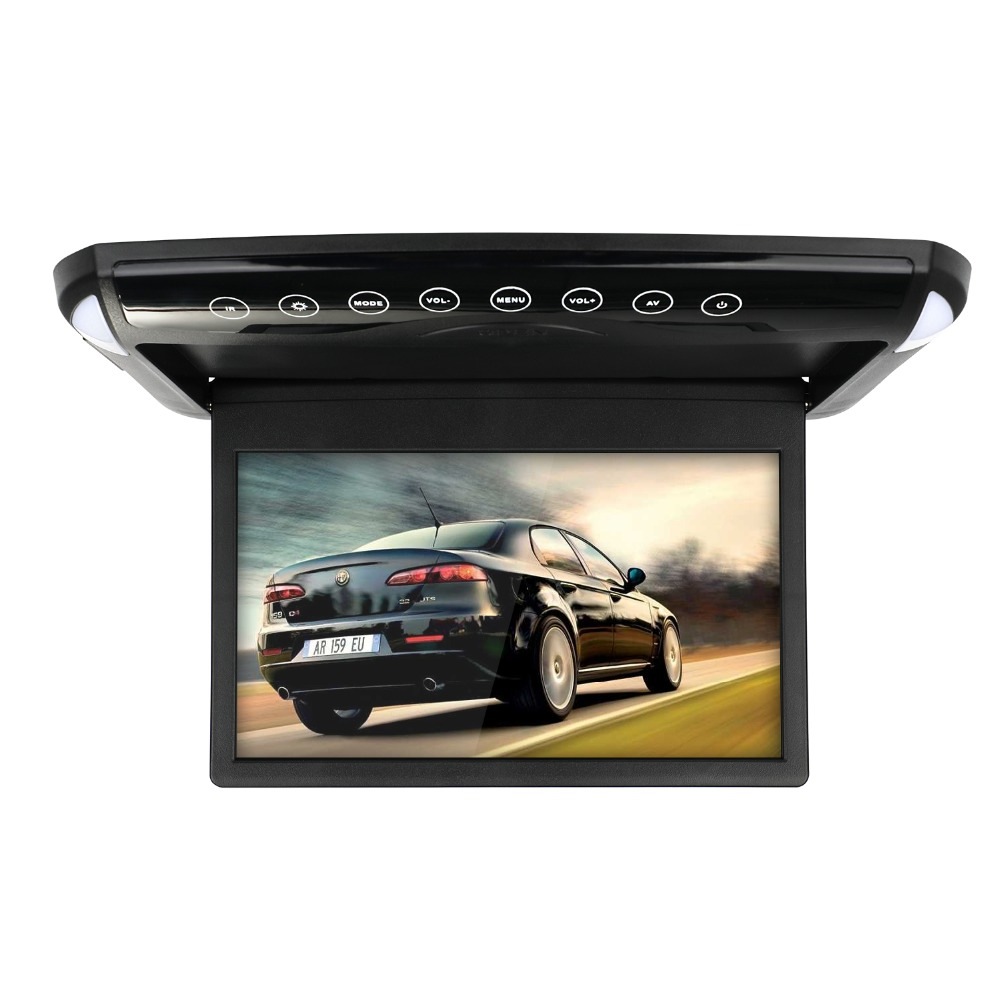 10.1/12.1 inch Flip Down Monitor 1080P HD Player FM Ultra Thin Car DVD Player 2 Way Video Input Car Roof Mounted TFT LCD Monitor - 2