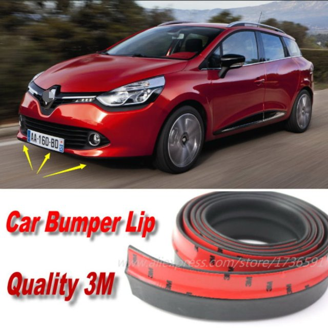 US $31 88 20% OFF|Bumper Lips For Renault Clio Estate / Auto Car Front Lip  Deflector Lips Skirt / Body Kit Strip / Body Chassis Side Protection-in