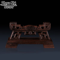 Samurai Sword Katana Wakizashi Tanto Wenge Holder Stand Rack Display Large Size Home Decoration