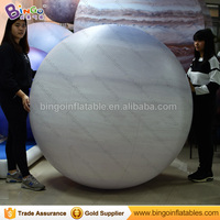 Free Shipping 1.5m PVC material close air inflatable Saturn balloon for toy sports
