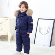 Winter Snowsuit Boy Baby Jacket Duck Down Outdoor Infant Clothes Girls clothing For Boys Kids Jumpsuit park coat fur child