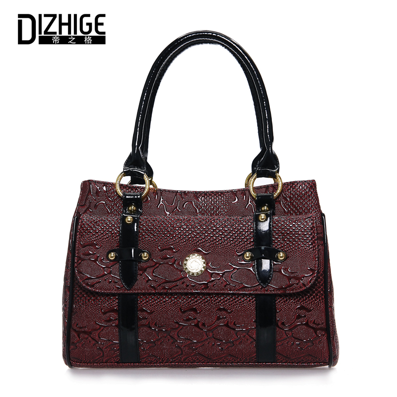 DIZHIGE Serpentine Top-Handle Bags High Quality PU Leather Ladies Handbag Luxury Handbags Women Bags Designer Female Totes Bag цена