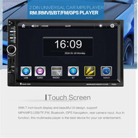 Car Styling 7 HD Bluetooth Touch Screen Car GPS Stereo Radio 2 DIN FM MP5 MP3
