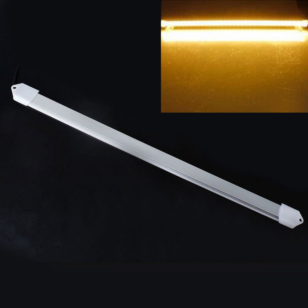 DC 12V 50CM 5630LED 36 LEDs Rigid LED Strip Waterproof Light For Kitchen Under Cabinet DIY Household Wall Corner LED Bar Light