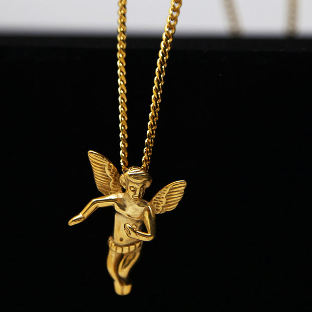 Online shop angel baby charm necklace gold chain men necklace angel angel baby charm necklace gold chain men necklace angel pendant necklace men cuban chain hiphop jewelry 24k gold angel necklace aloadofball Choice Image