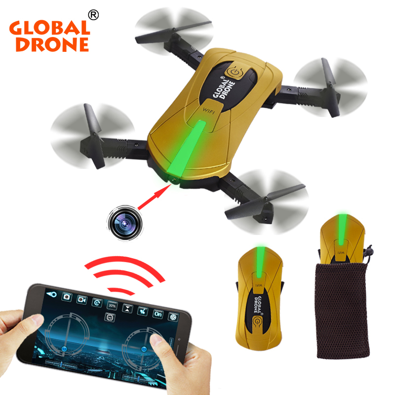 Global Drone GW018 Selfie Drone Fold portable Mini Pocket Drone 720P Camera Quadcopter Rc Helicopter Toy as JY018 VS JJRC H37 jjrc h36 mini pocket drone rc drone quadcopters headless mode one key return rc helicopter vs jjrc h8 mini h20 dron toys