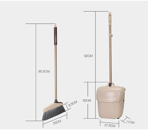 Image 2 - Dustpan  Lobby Broom Combo 3 Foot Overall Height Ergonomic Dustpan and Telescoping Handle