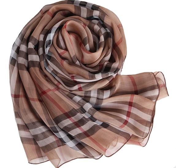 de8782e4fe9 Lot echarpe Oversized plaid scarf 100% pure silk genuine summer beach towel  foulard muslim hijab brand name scarfs sale scarves-in Women s Scarves from  ...