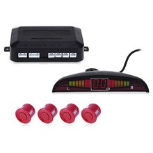 Kit de Sensor de Aparcamiento del coche LED Display 4 Sensores Radar de Reserva Reverso Del Sistema para Todos Los Coches Asistencia Reverse Radar Voz Pitido