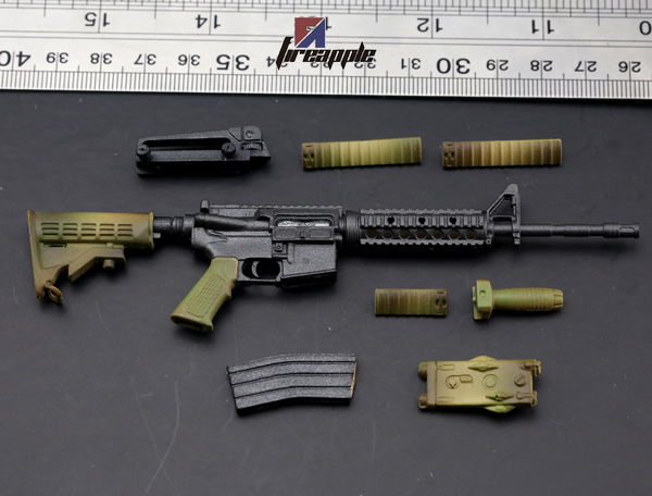 """1:6 Scale Weapon Model Assembly US Camouflage M4 M4A1 Plastic Gun For 12/"""" Figure"""