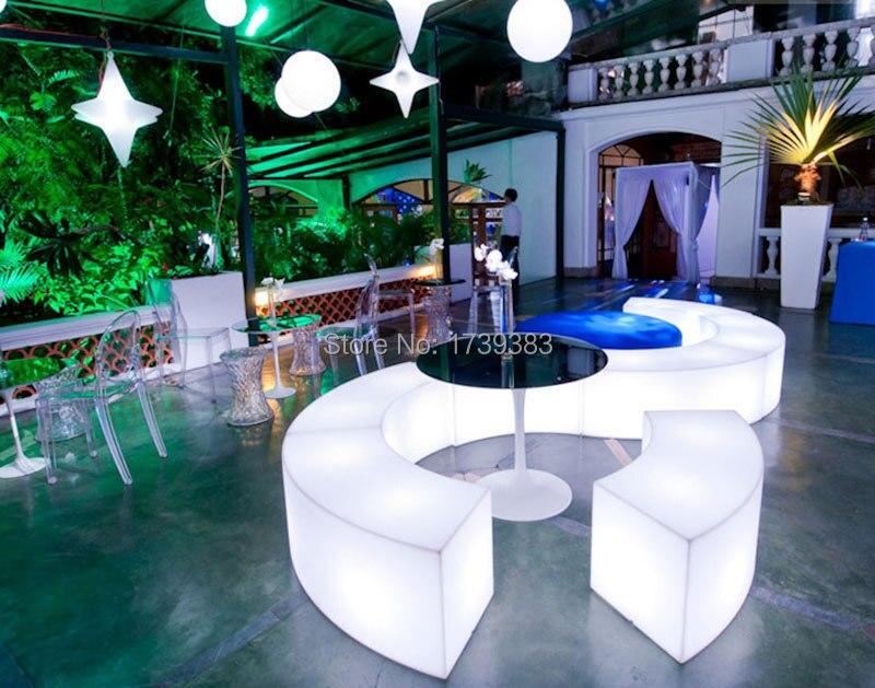 Лидер продаж! водонепроницаемый светящийся дугообразных Змея стулья Комбинация Гостиная диван LED бар мебель хит сезона продажи барный стул