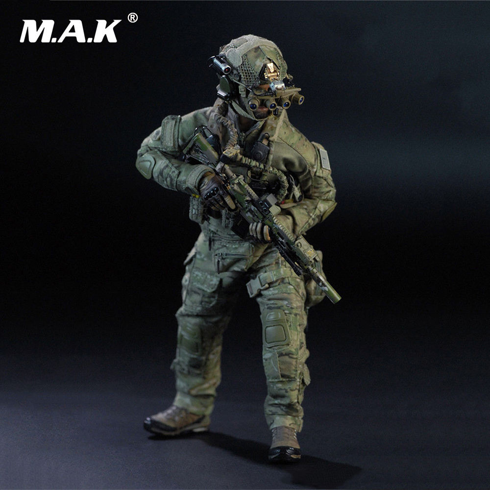 1/6 Scale Full Set Action Figure for Collection US Navy SEAL Team Six Solider M009 Male Figure Model Toys for Collection for collection full set action figure model fs 73005 1 6 us us delta special forces 1st sfod d figure model toys for fans gift