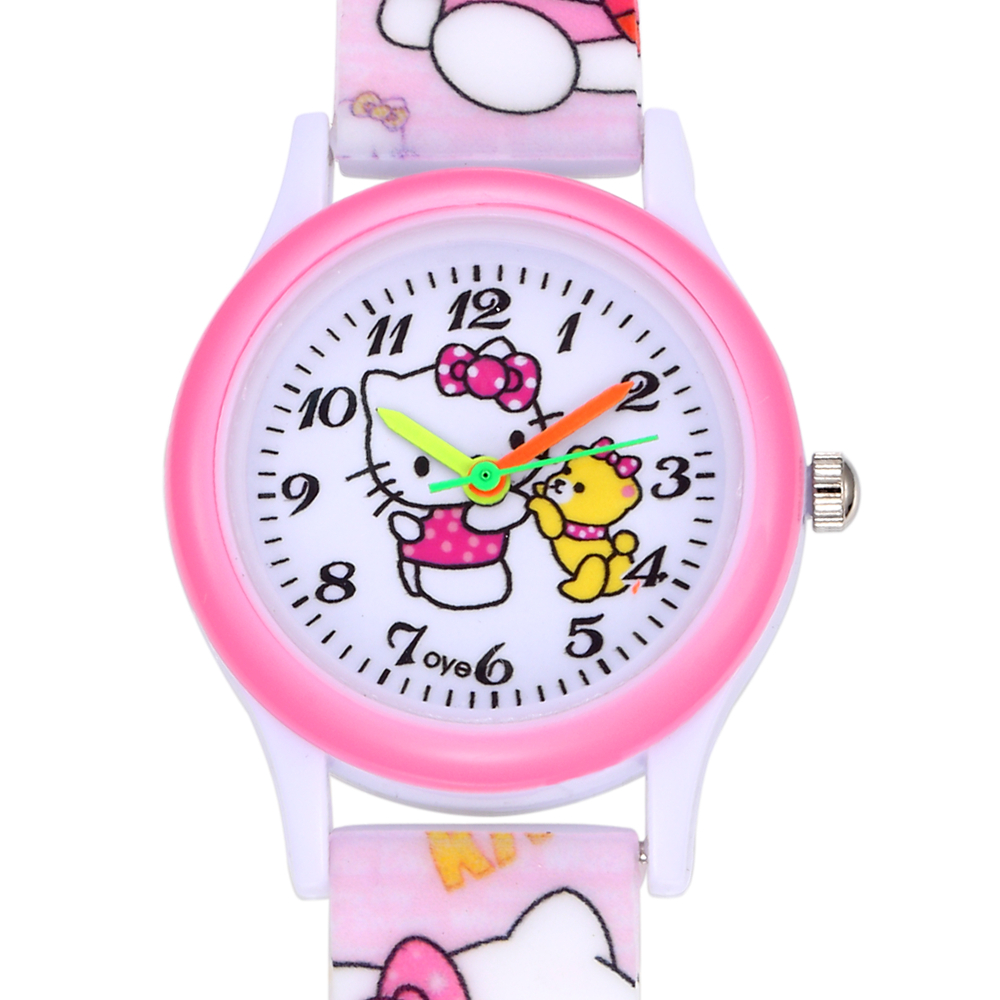 9b4805a5a Cartoon Hello Kitty Watch Girl Hours Children Gift Quartz Baby Wrist Watch  Kids Child Brand Clock Silicone Relogio Montre Enfant-in Children's Watches  from ...