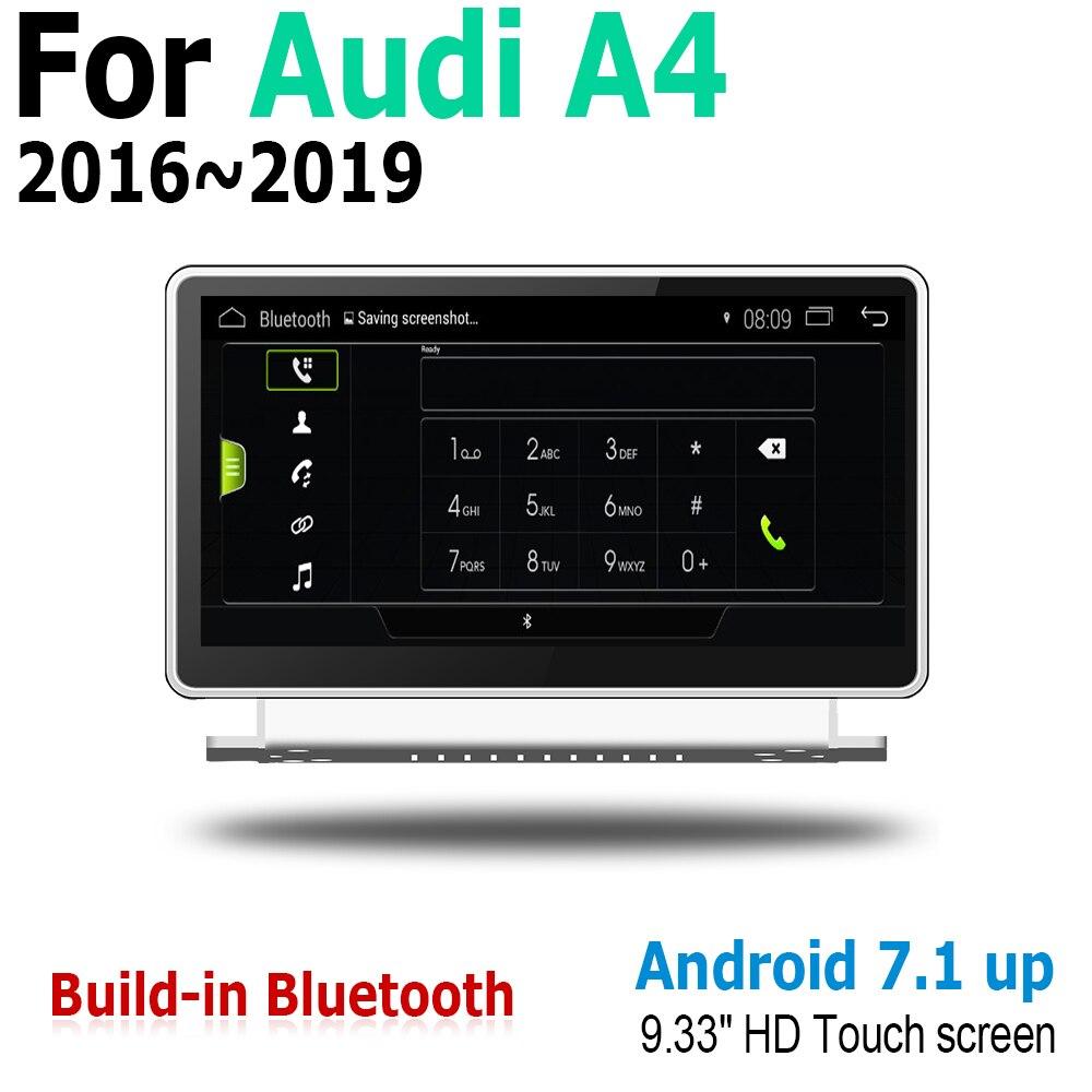 """חלקי חילוף bauknecht 9.33"""" בסגנון המקורי ניווט אנדרואיד 2G RAM עבור אאודי A4 8W 2016 ~ 2019 MMI GPS מסך מגע נגן מולטימדיה סטריאו Autoradio (5)"""