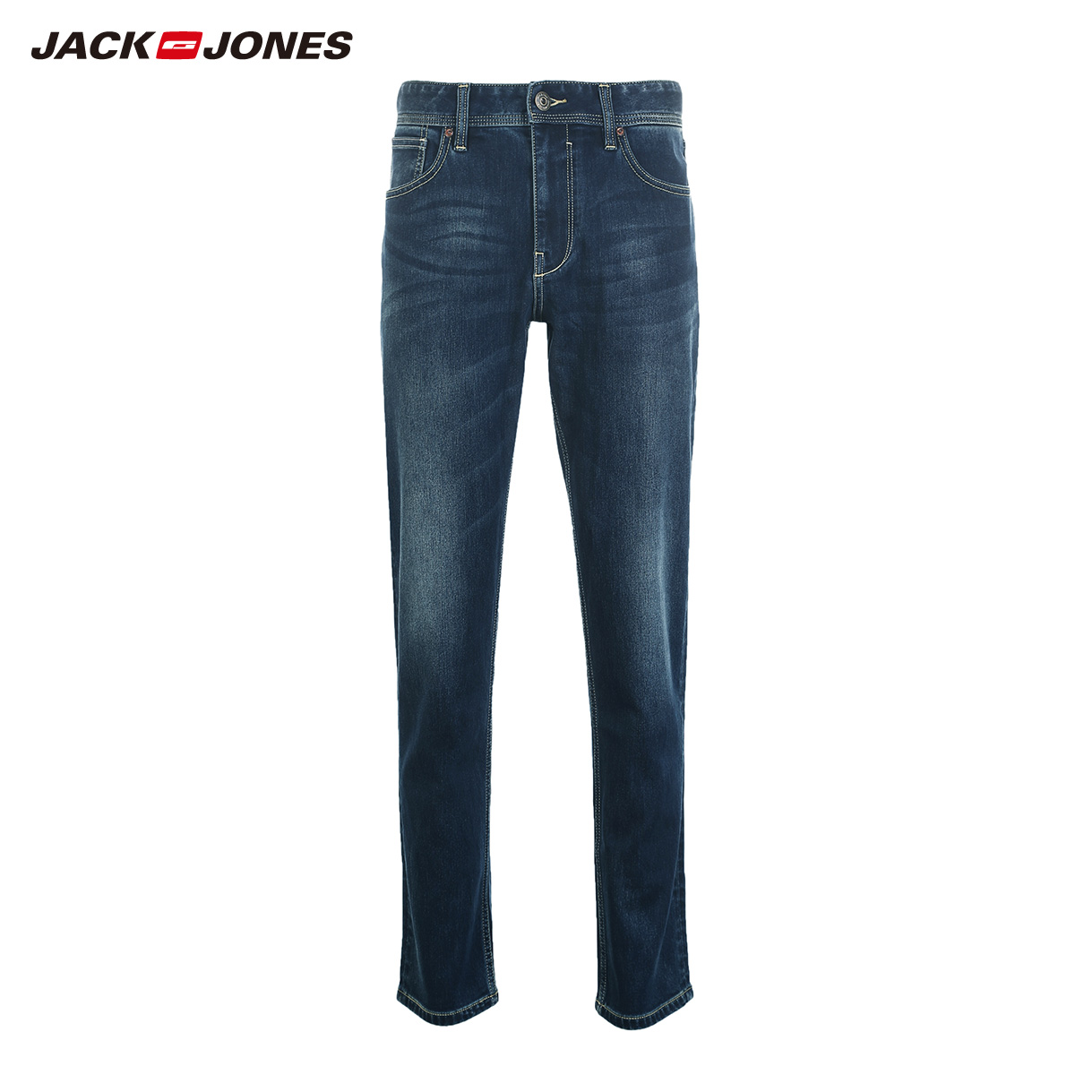 Image 5 - Jack Jones Men Jeans Brand Thick Warm Cotton Solid Straight Jeans Denim Trousers Mens Biker Jeans  218432505-in Jeans from Men's Clothing