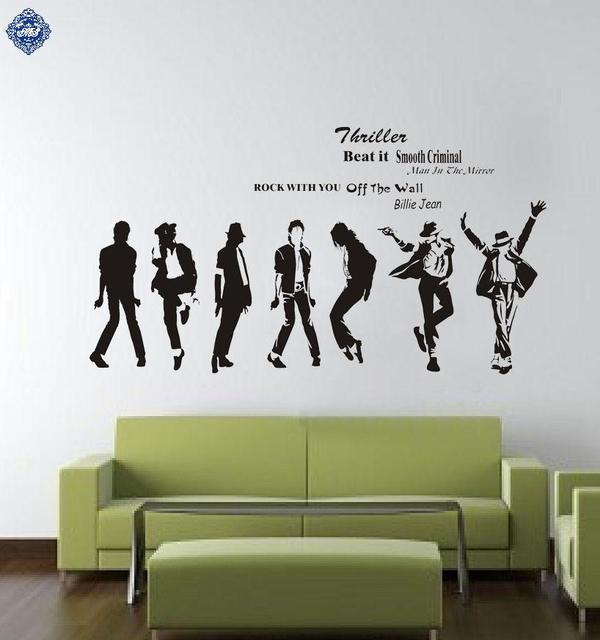 Michael Jackson Wall Stickers Home Decor For Bedroom Living Room Vinilos Paredes Decorativos Pegatinas Muursticker