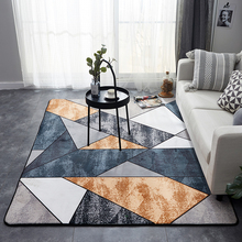 Rectangle Carpet Crystal Velvet Geometric Style Non-slip Rug and Carpets for Hom