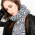 2016 New Fashion Wave Pattern Cotton Scarf Women Nation Wind Printing Scarf High Quality Brand Shawls and Scarves for Women