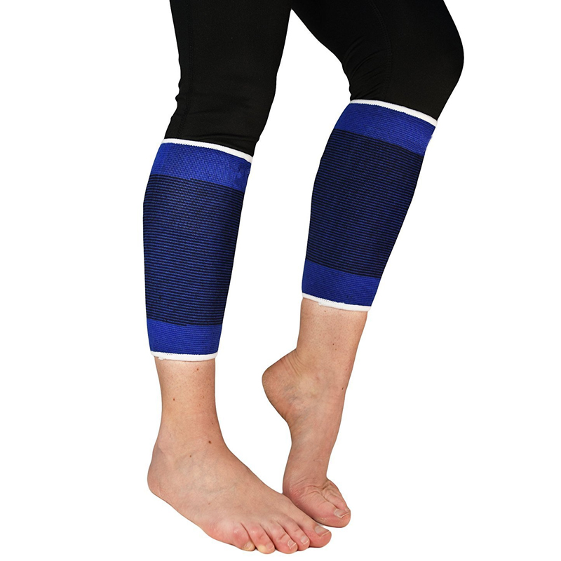 Tcare 1Pair Calf Compression Sleeves Footless Compression Stockings and Calf Support for Runners - Relief for Shin Splints