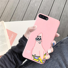 JAMULAR Cute Cartoon Patrick Star Phone Case For iPhone XS MAX X XR 7 8 6 6s Plus Plankton Pattern Soft Mate Back Cover Bag