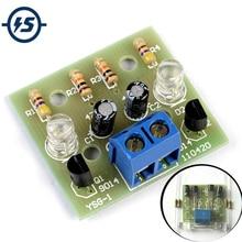 10pcs Simple LED Flash DIY Kits Circuit Electronics DIY Electronic Suite 1.2mm