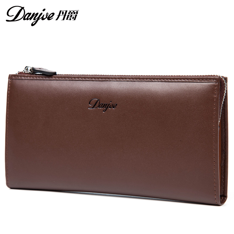 ФОТО Danjue High Quality Real Leather Men Long Fashion Wallets Famous Designer Brand Capacity Storage Mini Phone bag Long Wallets