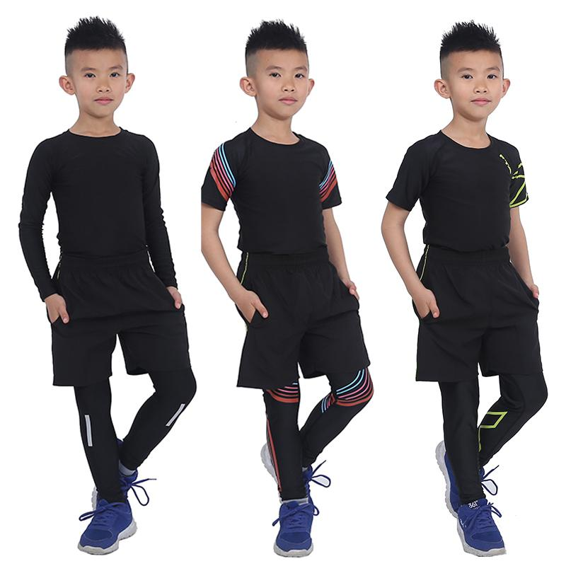b12fe59fc Survetement Homme 3 pcs KIDS Sport Suits Quick Dry Basketball Soccer  Training Tracksuits child Fitness Gym Clothing Running Sets