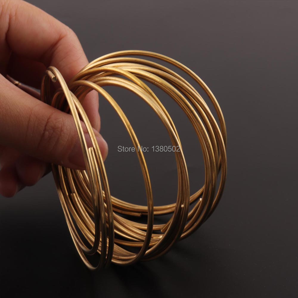 16Ga 1 2mm Copper Wire 10inch pcs Copper Coil dead soft Wire Wrapping Jewelry Wire Solid Copper Beading Cord Findings DIY in Thread from Home Garden