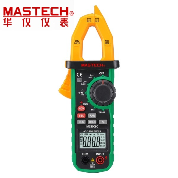 MASTECH 6000 counts Autoranging Digital Clamp Meter with Non-contact Voltage Detector MS2009C