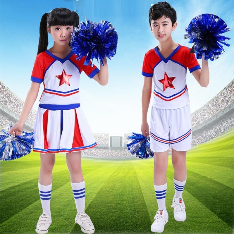 Cheerleaders Students Cheerleading Costumes Campus Group Gymnastics Costumes Children Cheerleading School Uniforms Gym Sports