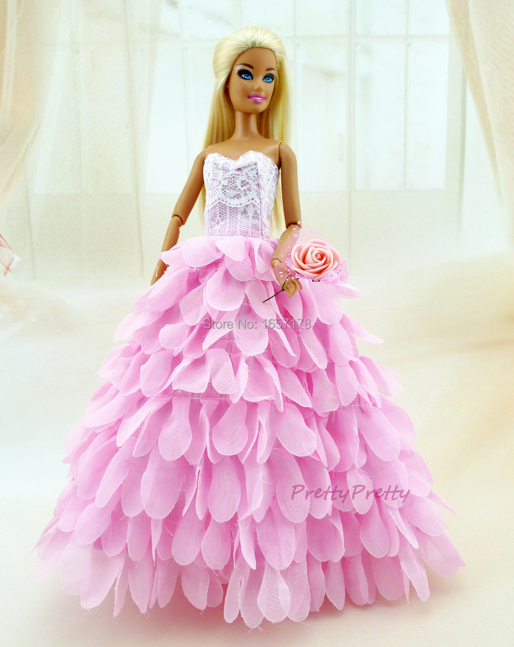 Two Colour New style Handmade Wedding Gown Princess Dress Party ...