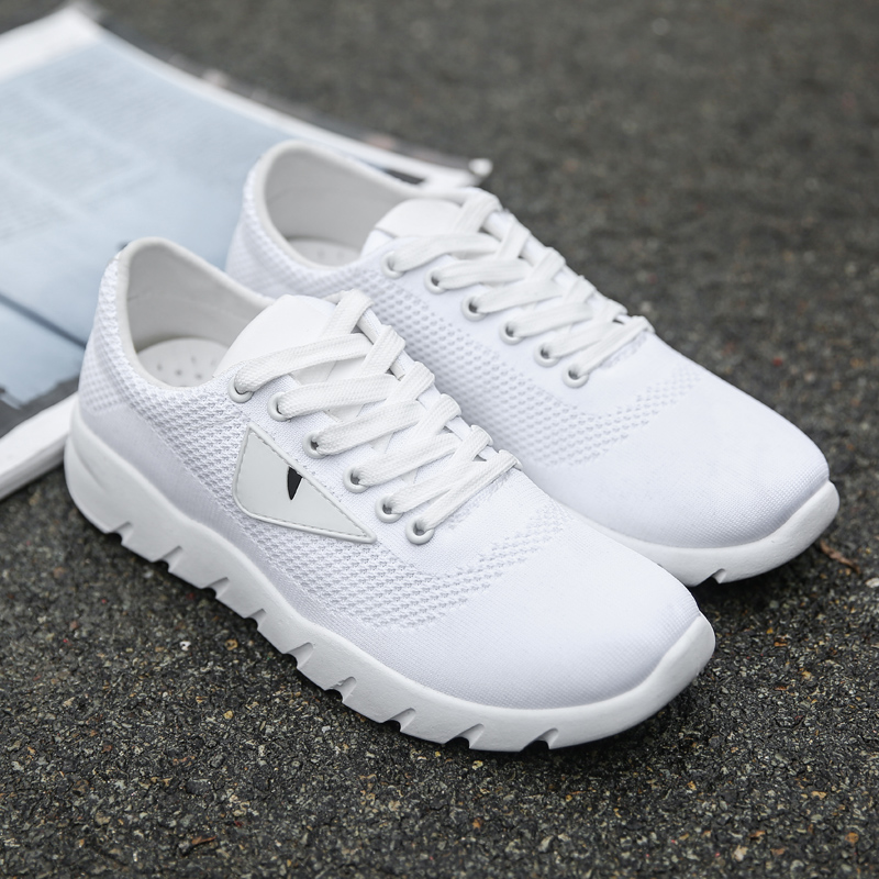 Chaussures white Sneakers Vogue Black Respirant Pour Tendance Hommes Marche Nouveau red Confortable Mesh Occasionnels De Plein En Air qxTTrtYB