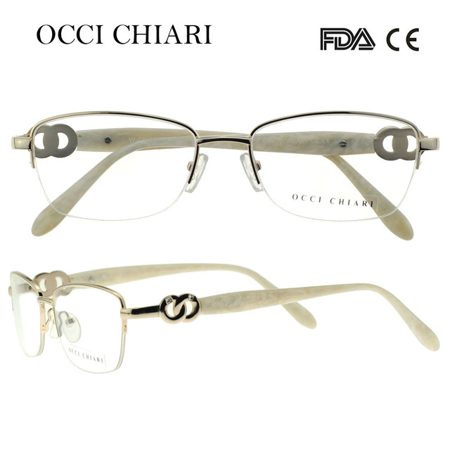 62331ba2e73 OCCI CHIARI 2018 New Fashion Women Metal Stainless Steel Anti-blue Lens  Light Glasses Optical Frames Eyewear Eyeglasses W-COCCI