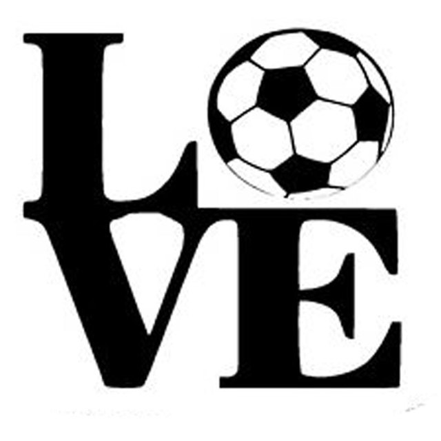14CM*13.2CM Soccer Ball Love Decals Motorcycle Car Styling Car ...