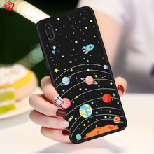 ASINA Cartoon Silicone Case For Huawei P20 Lite Cute 3D Relief Bumper P Smart Pro Y9 2019 Mate 20 P30