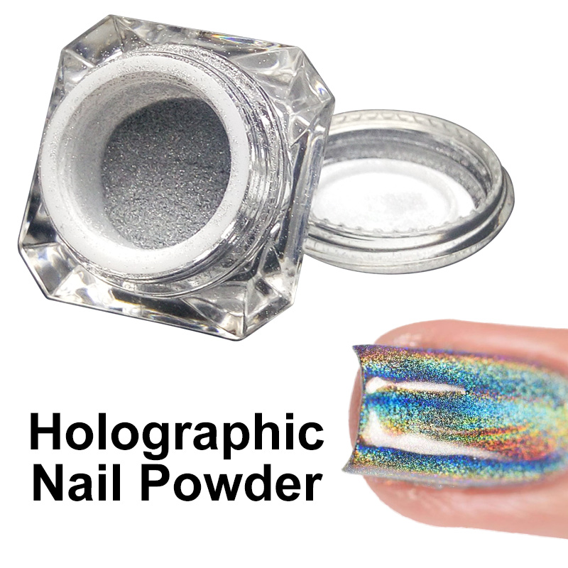 Avon Chrome Nail Powder: Ellwings Shimmer Holographic Laser Nail Manicure Glitters