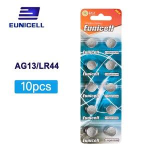Image 1 - Venda quente 10 peças ag13 ag 13 357a pila lr44 sr44 lr44 bateria de pilha de moeda de botão de lítio 1.5 v ag 13 alcalina ee6214 lr1154