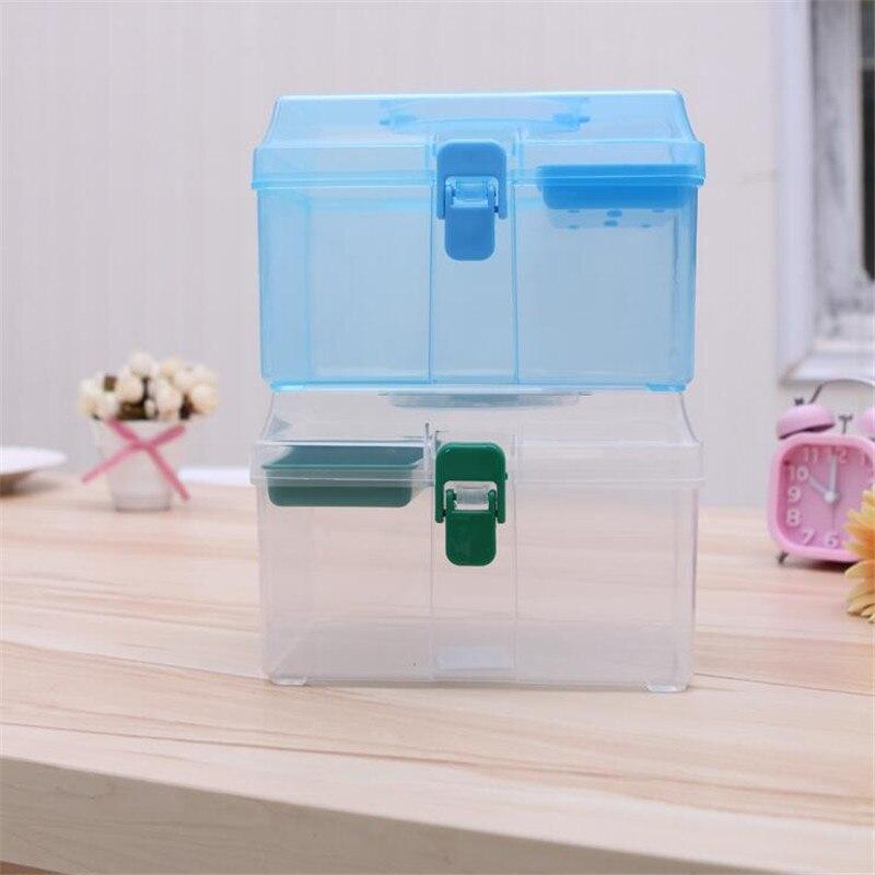 1 шт. Семья здоровья наркотики Малый Портативный коробка для хранения комплекты Randon Цвет Быстрая доставка 0D