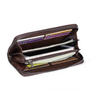 Image 4 - Portefeuille de luxe, en cuir véritable, doiseaux du sud, pochette en relief, sac de téléphone de bonne qualité