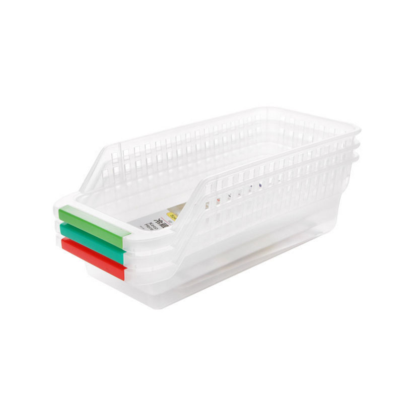 Refrigerator storage basket egg vegetable fruit food beverage hollowed drawer type storage box plastic Summer storage box