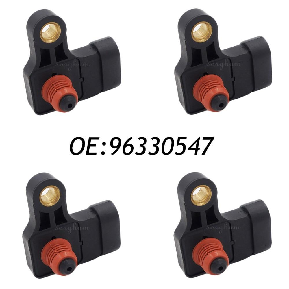 4PCS 96330547 MAP Intake Manifold Pressure Sensor For