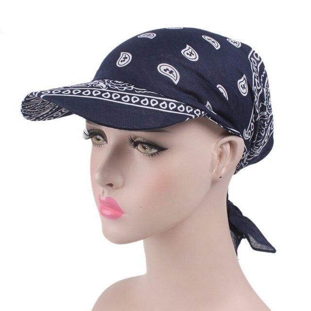 Helisopus Fashion New Hat Women Scarf Wrap Sun Hat Printed Amoeba Women Headwear Cap Visors
