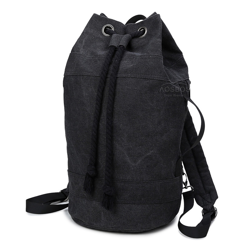 aebf113825 Aosbos 2019 Durable Canvas Drawstring Backpacks for Women Men Bucket Gym Bag  for Training Outdoor Sport Basketball Storage Bags
