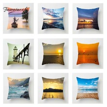 Fuwatacchi Fresh Scenic Cushion Cover Oceanside Sunrise Cloud Nine Throw Pillow Cover Decorative Pillow Cover Sofa Pillowcase роллеры cloud nine cloud nine cl001lwfmh70
