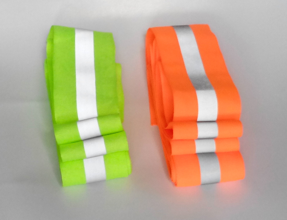 New 50mm x 15mm 3 meter lot oxford reflective fabric sewing tape sewn on reflective tape