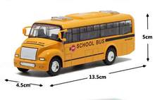 30X Alloy City School Bus Toy Model Car Light Music For Baby Kids Children Playing Games(China)